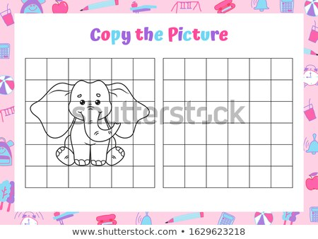 Simple picture of an elephant stock photo © jirisolecito