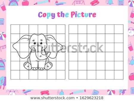 Semplice foto elefante stilizzato nero animale Foto d'archivio © jirisolecito