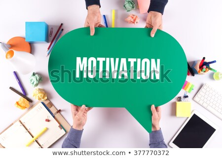 Stock photo: Two speech bubbles for life and work