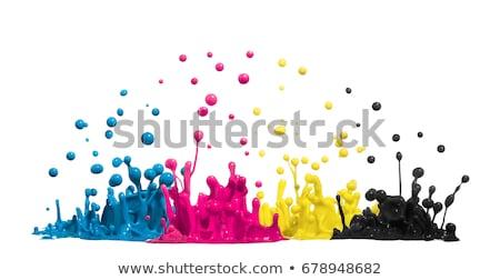 encre · gouttes · 3D · isolé · blanche - photo stock © unkreatives
