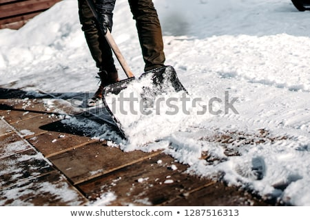 Sneeuw omhoog sluiten afbeelding bewegende Stockfoto © saje