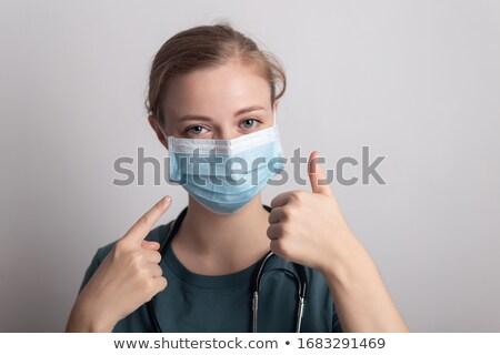 női · nővér · műtősmaszk · orvos · nők · tudomány - stock fotó © photography33