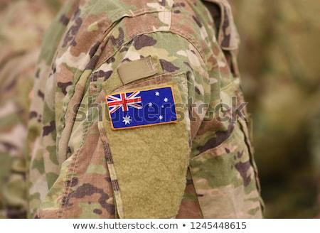 leger · Australië · frame · oorlog · dienst · silhouet - stockfoto © perysty