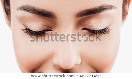 Portré modell csukott szemmel közelkép lövés gyönyörű nő Stock fotó © feedough
