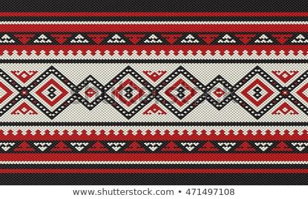 арабский шаблон красный четыре цвета Сток-фото © lkeskinen