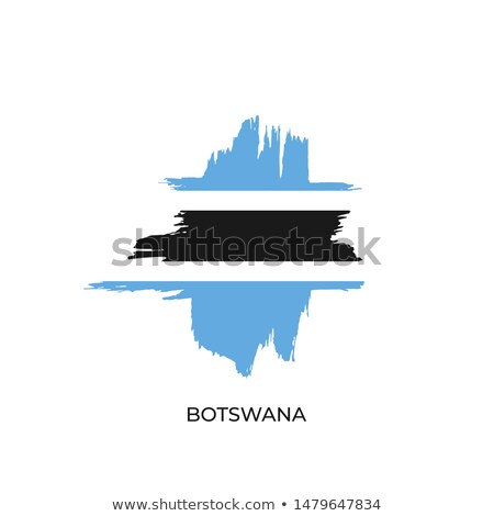 Stock photo: vector label Made in Botswana