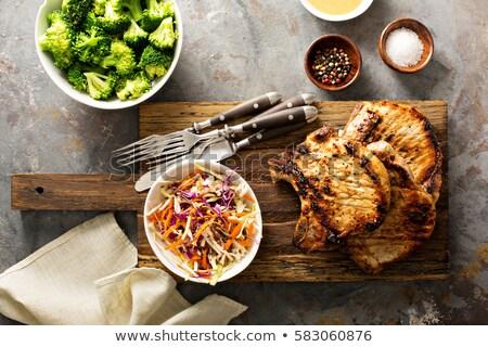 porc · remplissage · cadre · alimentaire · manger - photo stock © zhekos