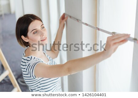 Measuring width of wall Stock photo © photography33