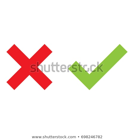 Tick and Cross buttons in green and red colors  Stock photo © experimental