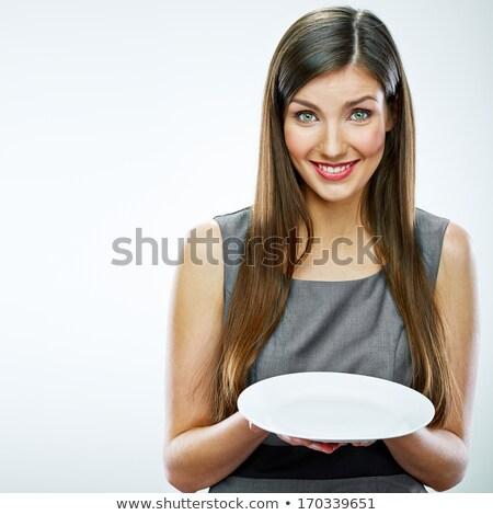 prato · menina · ilustração · mulher · vazio - foto stock © lenm
