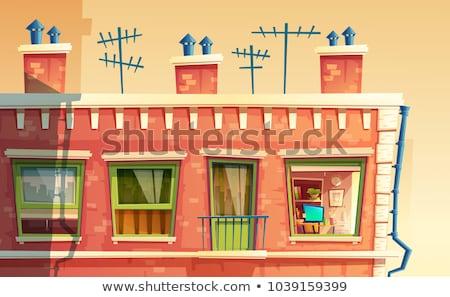 Houses and antennas Stock photo © deyangeorgiev