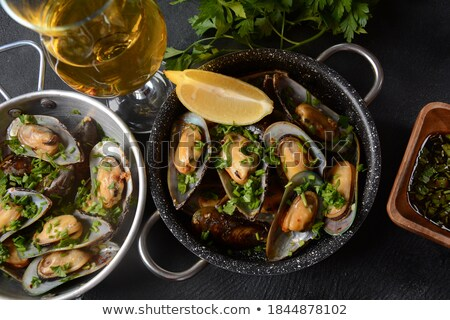 mussels and fries stock photo © m-studio
