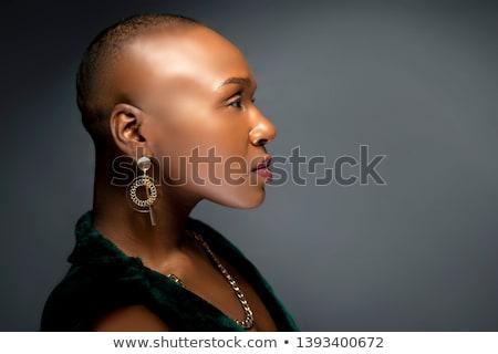 careca · menina · cabeça · branco · mulher · medicina - foto stock © Goruppa