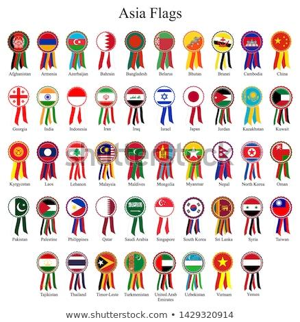 Kirgizië vlag gedetailleerd zijde eps10 sport Stockfoto © milsiart