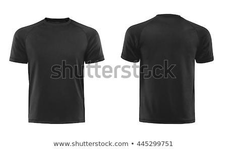 Black Tshirt on a white background. Stock photo © ozaiachin