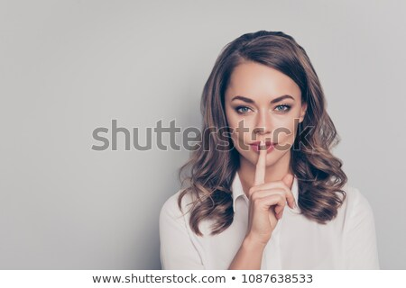 ritratto · imprenditrice · silenzio · ufficio - foto d'archivio © wavebreak_media