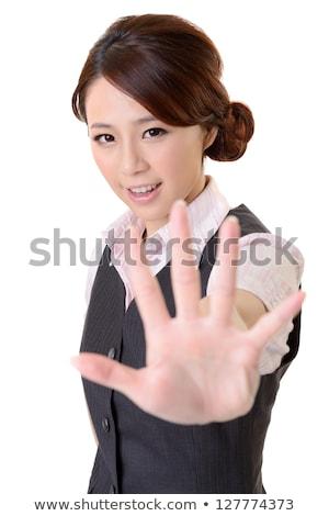 портрет · азиатских · деловая · женщина - Сток-фото © elwynn