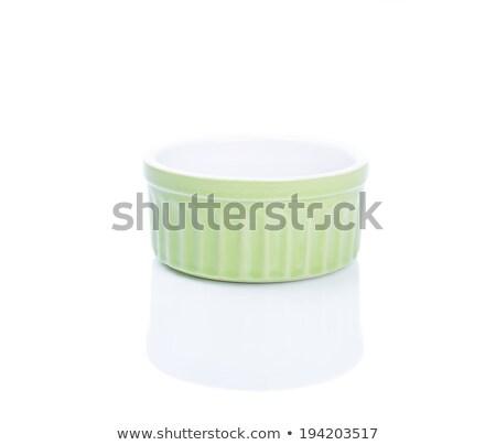 Ceramic Ramekin isolated with clipping path Stock photo © danny_smythe