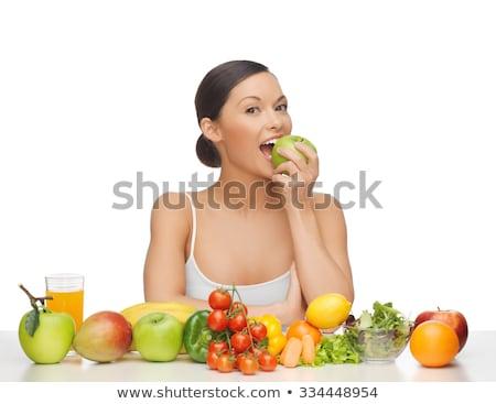 Fille manger salade de fruits femme alimentaire nature Photo stock © photography33
