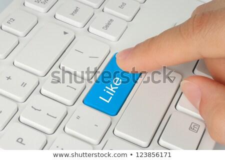 Számítógép billentyűzet kék kulcs ahogy közelkép egér Stock fotó © maxmitzu