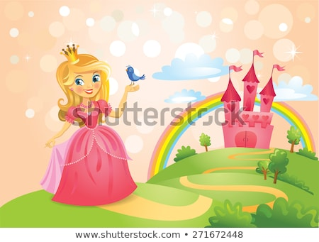 Magical Pink Castle Stock photo © Lightsource