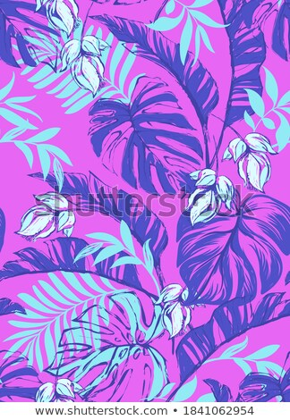 Hawaiian Floral Seamless Background with Hibiscus Stock photo © Winner
