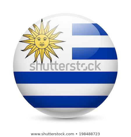 Gomb Uruguay térkép tájkép zászló sziluett Stock fotó © Ustofre9