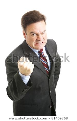 Człowiek biznesu gniew środkowy wiek czarny Zdjęcia stock © scheriton