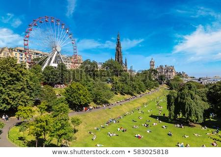 Эдинбург · Шотландии · часы · башни · холме · сумерки - Сток-фото © julietphotography