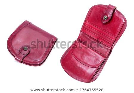 Vintage latón bolso blanco cadena Foto stock © eldadcarin