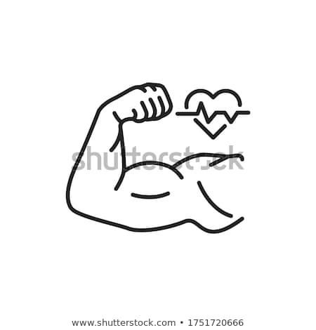 Power mens hand on black Stock photo © artjazz