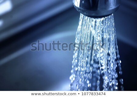 Ejecutando agua wallpaper burbujeante azul líquido Foto stock © sherjaca