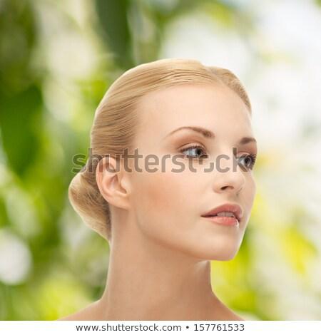 Gyönyörű érzékeny szőke nő portré hosszú hajú modell Stock fotó © zastavkin