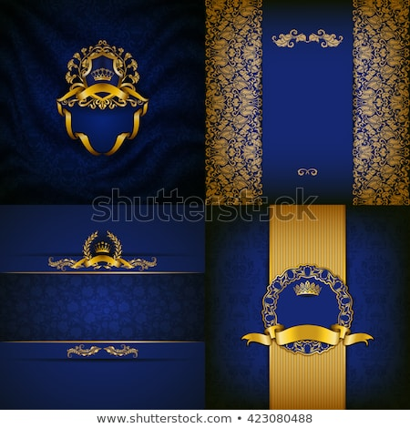 Blue Shield with Drapery Stock photo © cteconsulting