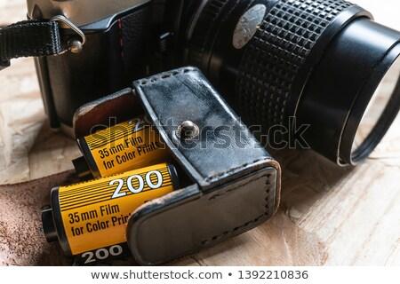 Klasszikus bőr kamera tok izolált fehér Stock fotó © Marfot