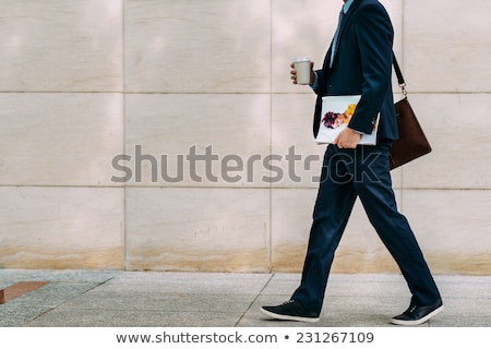 Man going to work with a bag stock photo © doupix