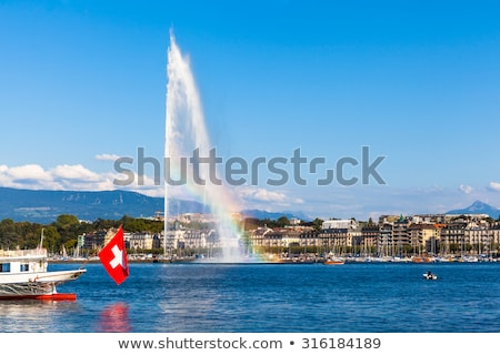 湖 · スイス · 表示 · ツリー - ストックフォト © marekusz
