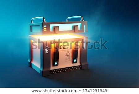 caixa · latão · trancar - foto stock © 805promo