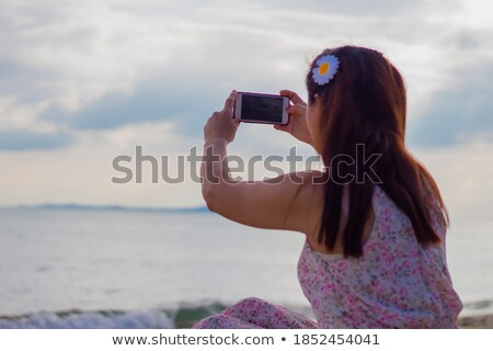 Woman in dress take sunbath at day Stock photo © vetdoctor