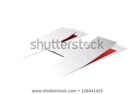 Paper folding with letter H in perspective view Stock photo © archymeder