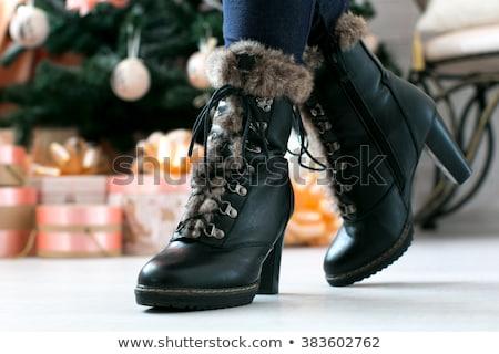 ストックフォト: 黒 · 靴 · クローズアップ · 光 · デザイン · 色