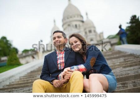 少女 バシリカ パリ フランス モンマルトル 笑顔 ストックフォト © photocreo