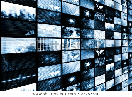 futuristic digital age tv and channels background stock photo © lunamarina
