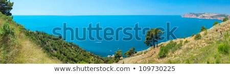 синий морской пейзаж мнение высокий горные сушат Сток-фото © lunamarina