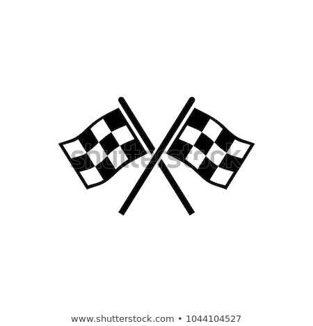 vector  racing flags icon Stock photo © freesoulproduction