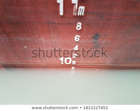 grunge · barco · ferro · enferrujado · azul - foto stock © lunamarina