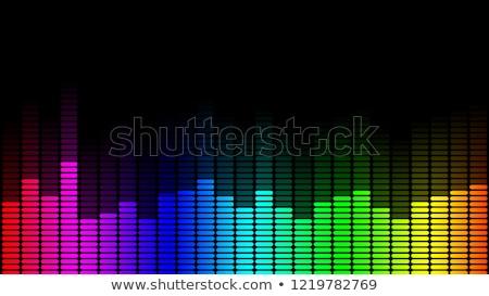 Tęczy graficzne korektor kolor czarny dźwięku Zdjęcia stock © ArenaCreative