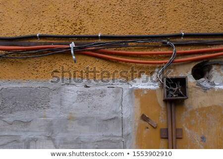 грязный · электрических · кабелей · Япония · синий · помочь - Сток-фото © spectral