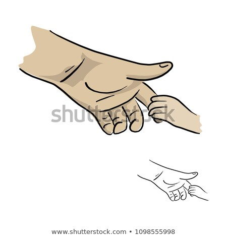 kettő · kéz · tart · izolált · fehér · divat - stock fotó © mikko