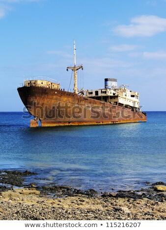 Hajóroncs Kanári-szigetek Spanyolország víz építkezés csónak Stock fotó © meinzahn